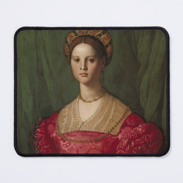 A Young Woman and Her Little Boy Oil Painting by Agnolo Bronzino Mouse Pad