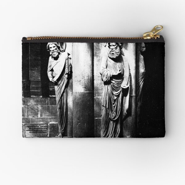 Pillar of Angels at Strasbourg Cathedral circa 1858 Zipper Pouch