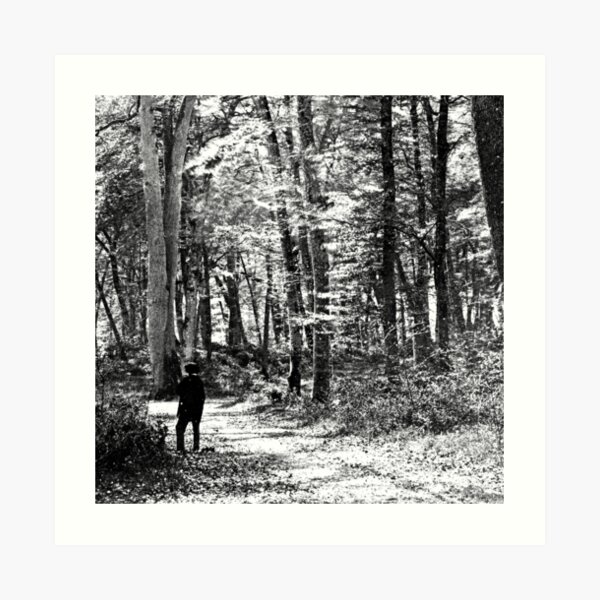 Person in Forest circa 1865 Art Print