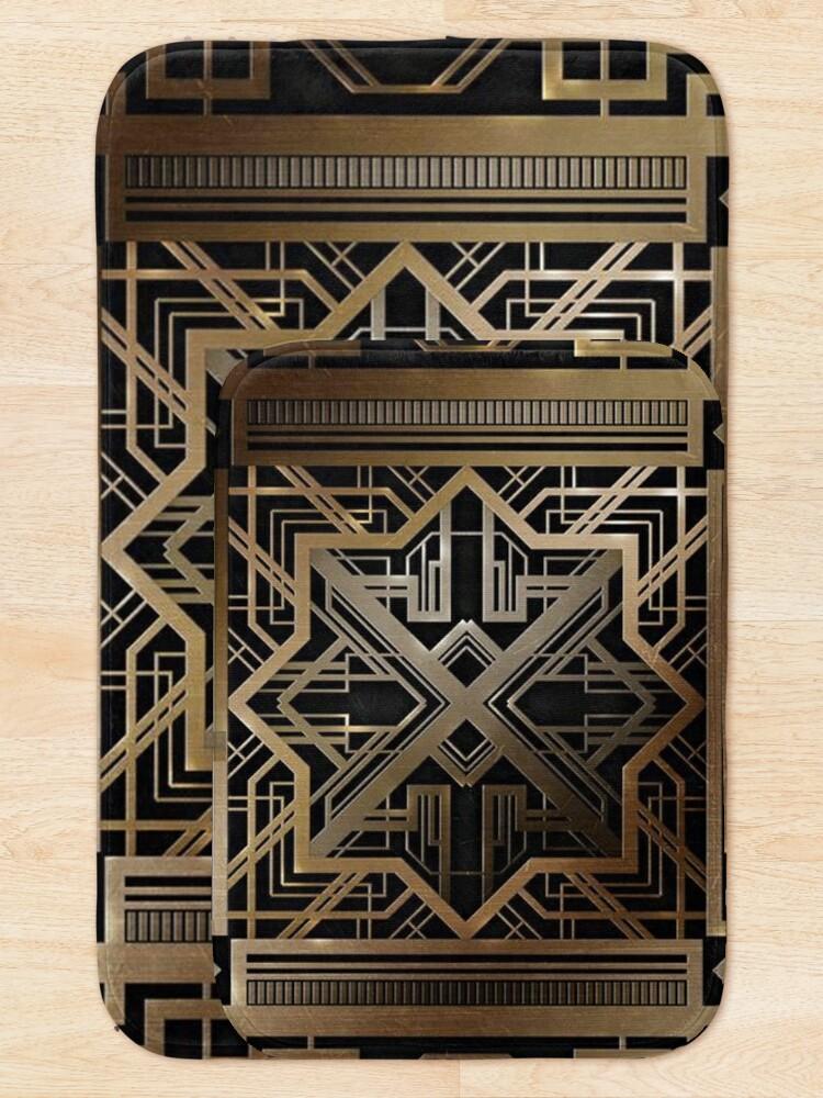 Alternate view of Art deco,gold,black,vintage,chic,elegant,1920 era,The Great Gatsby,modern,trendy,decorative Bath Mat