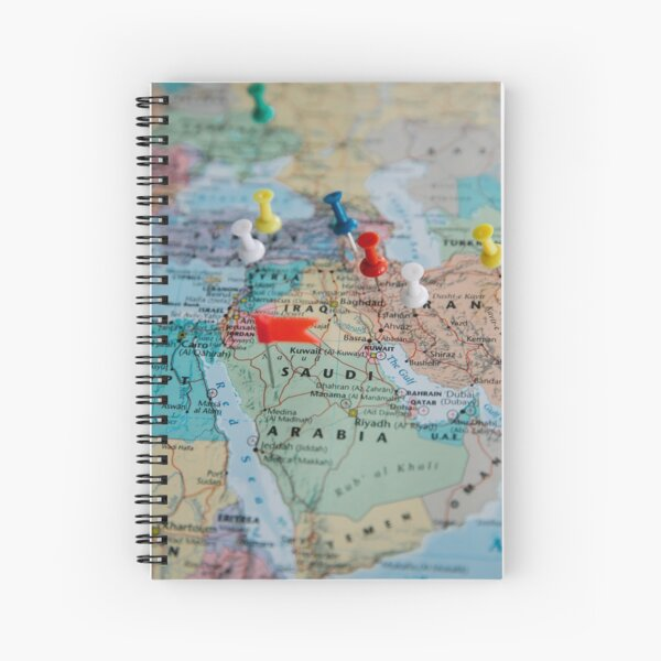 Red Yellow And Green Map Spiral Notebook