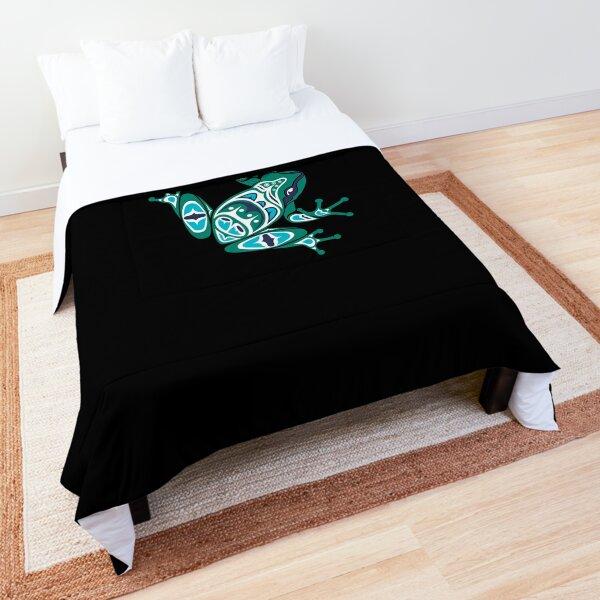 Frog Pacific Northwest Native American Indian Style Art Comforter