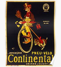 Vintage poster - Continental Bicycles Poster