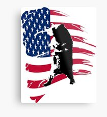 pedals the walking bear amerian flag Metal Print