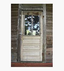 White Door in Small Town MS Photographic Print