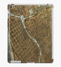 Vintage Pictorial Map of Milwaukee (1872) iPad Case/Skin