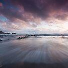 Pull of the tide - sunset at Hartland, Devon by Zoe Power