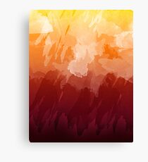 Sunset Watercolor Canvas Print