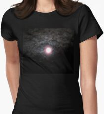 Moon Lit Clouds Womens Fitted T-Shirt