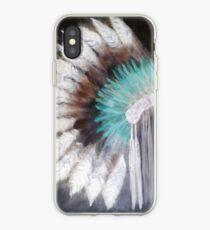 Native Indian Headdress in negative iPhone Case