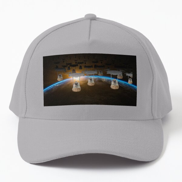 Pugvasion Alien Invasion by Drone Baseball Cap