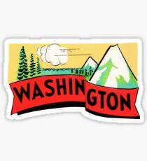 Pegatina Calcomanía de viaje vintage del estado de Washington WA