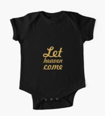 Let heaven come - Christian Quote One Piece - Short Sleeve