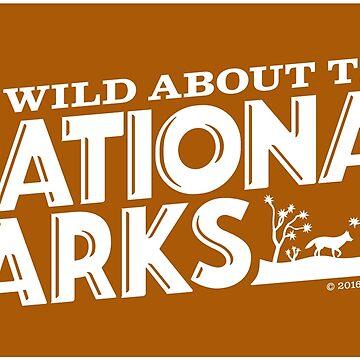 Soy salvaje para los parques nacionales: Coyote de BlueAsterStudio