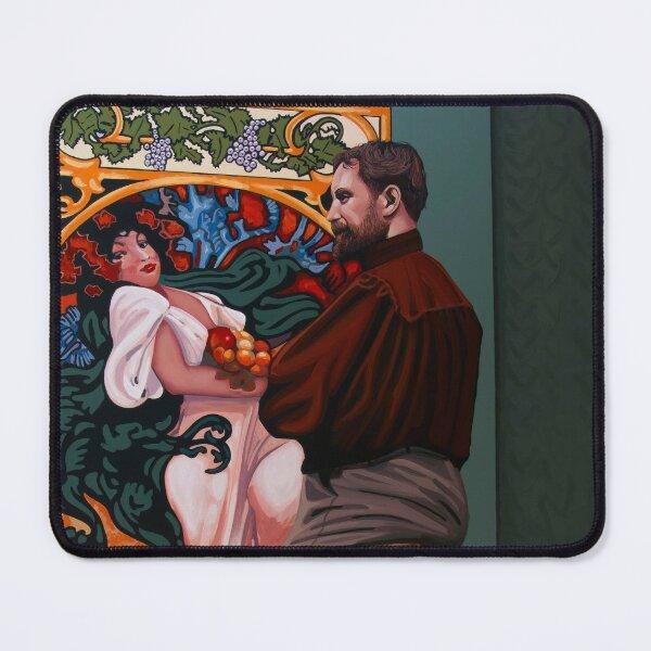 Alphonse Mucha Painting Mouse Pad