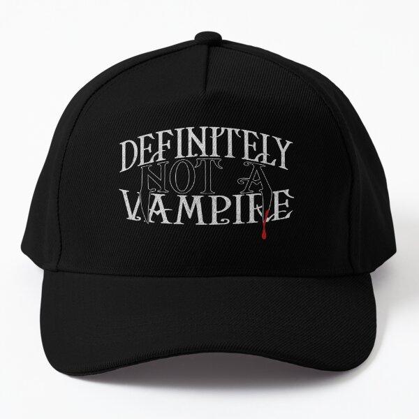 DEFINITELY NOT A VAMPIRE Baseball Cap