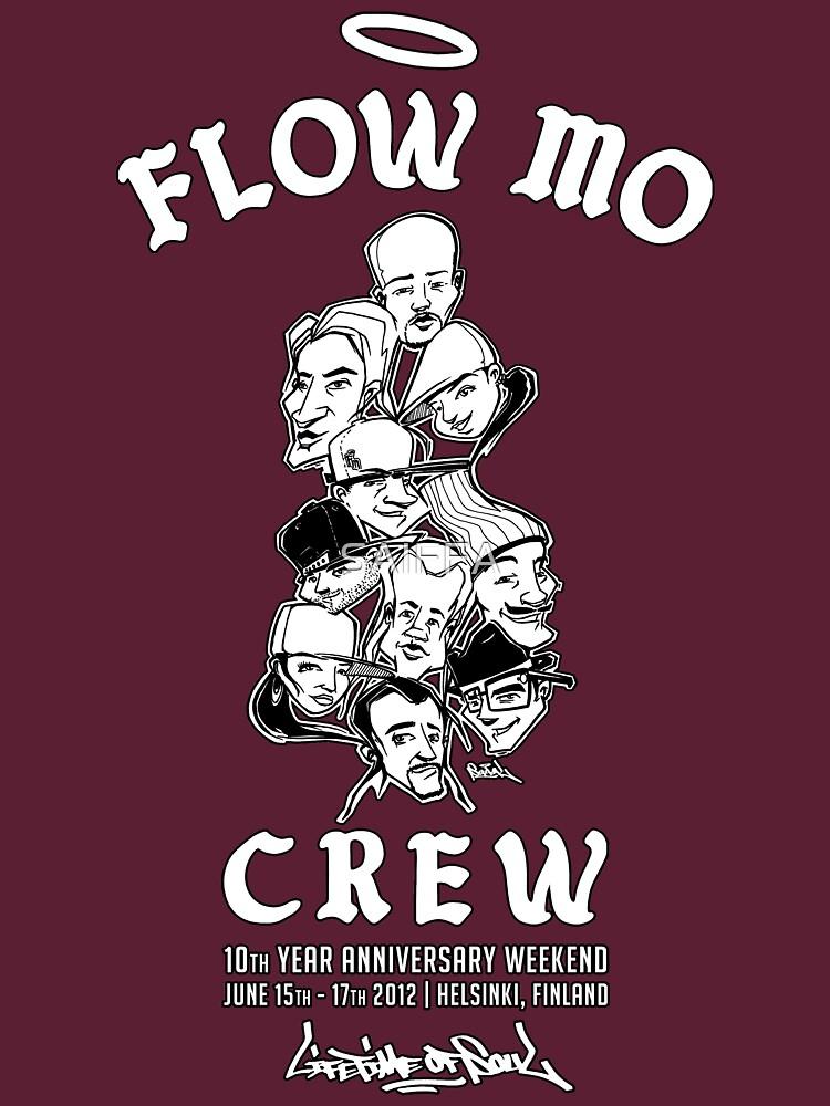 """Flow Mo 10th Year Anniversary """"CREW"""" Shirt by SAIFFA"""