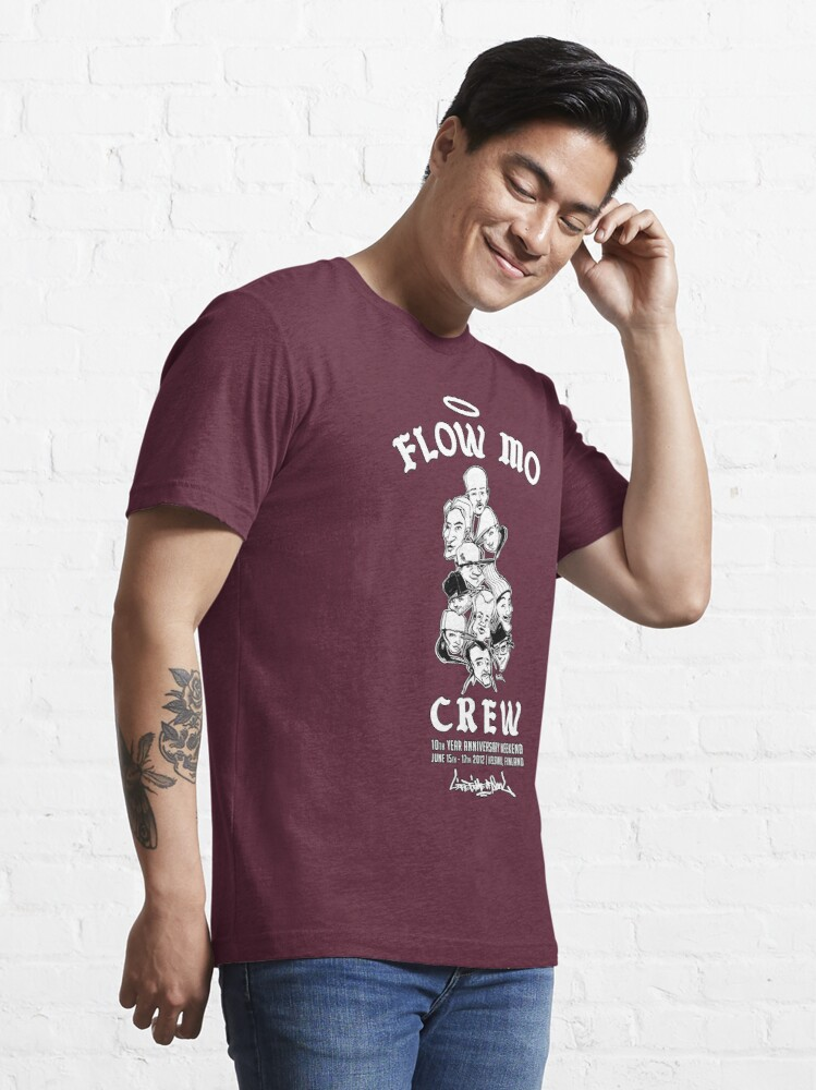 """Alternate view of Flow Mo 10th Year Anniversary """"CREW"""" Shirt Essential T-Shirt"""