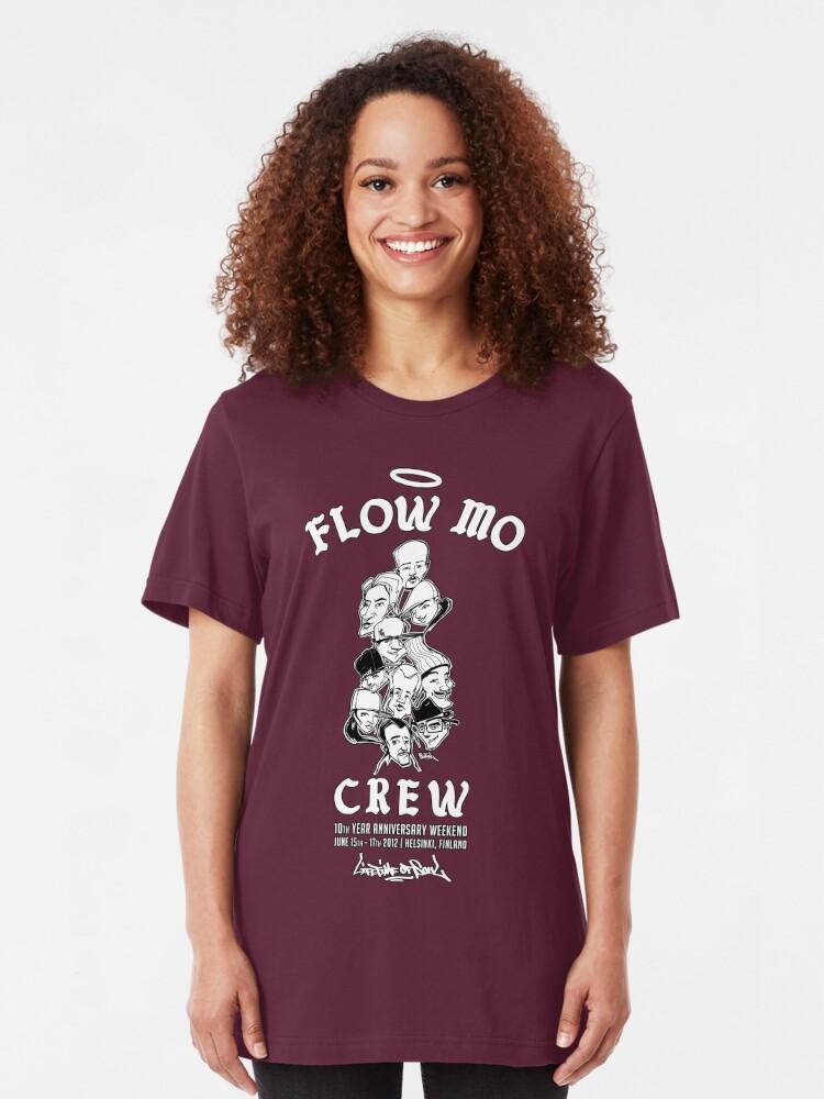 "Alternate view of Flow Mo 10th Year Anniversary ""CREW"" Shirt Slim Fit T-Shirt"