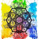 Rainbow Chakras Painting by brunaashby
