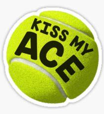 Küsse mein (Tennis) Ass Sticker