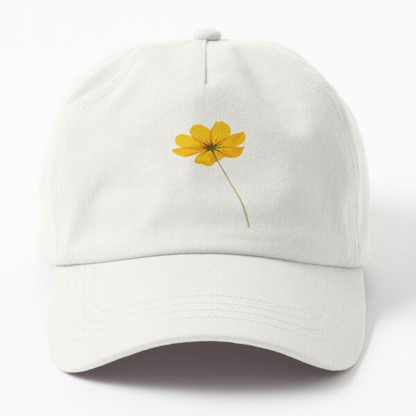 Yellow Cosmos Flowers Dad Hat