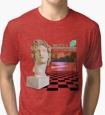 Camiseta de tejido mixto Vaporwave Estética