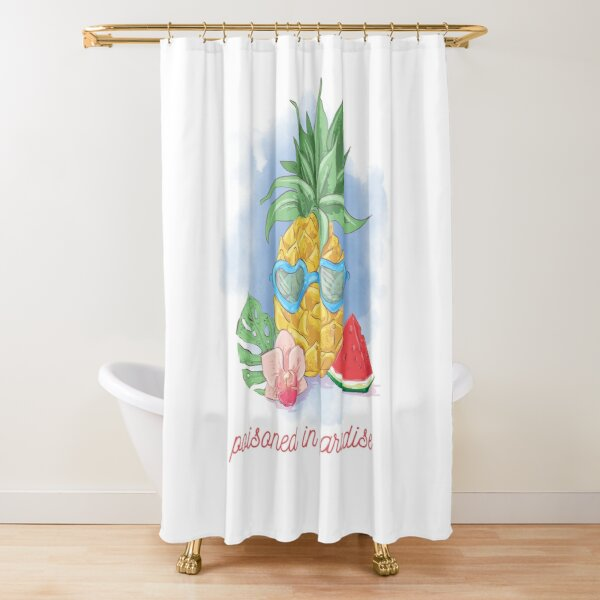 Pineapple   Poisoned in Paradise  Shower Curtain