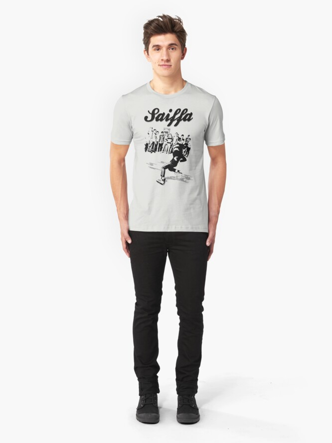 Alternate view of Saturday breaking at Saiffa! Slim Fit T-Shirt