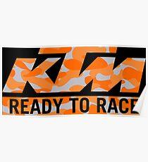 KTM Camouflage Poster