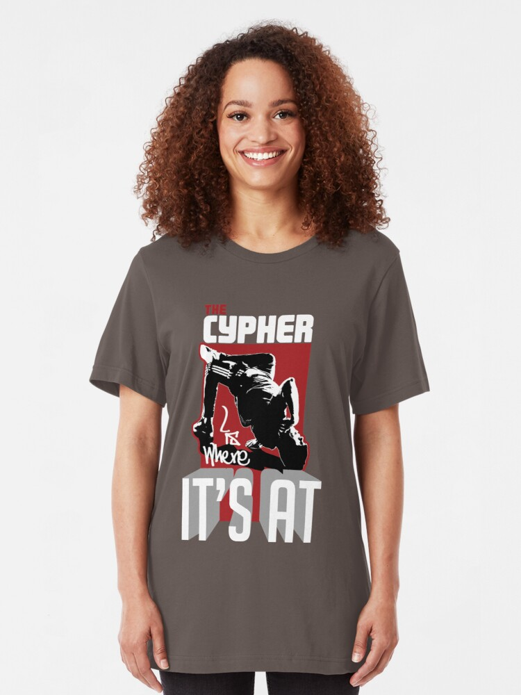 Alternate view of The cypher is where it's at! Slim Fit T-Shirt