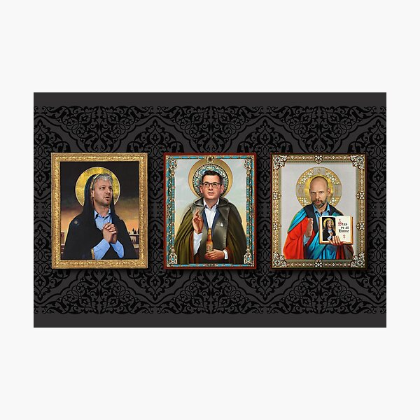 The Premier, The Commander and The Holy CHO Photographic Print