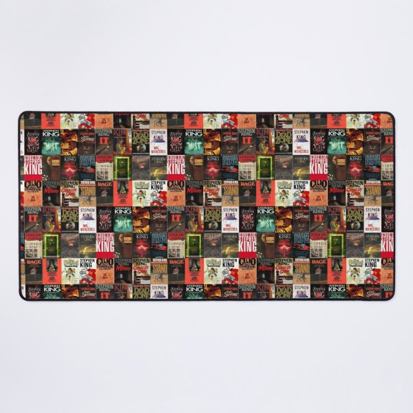 Stephen King Book Cover Collage Desk Mat