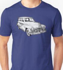 1948 Pontiac Silver Streak Woody Illustration Unisex T-Shirt