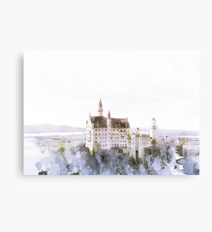 Neuschwanstein Fairy Tale Castle Print Canvas Print