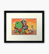 Cool and Nerd Dinosaur  Framed Print