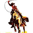 Wild West Lasso Cowboy by flashman