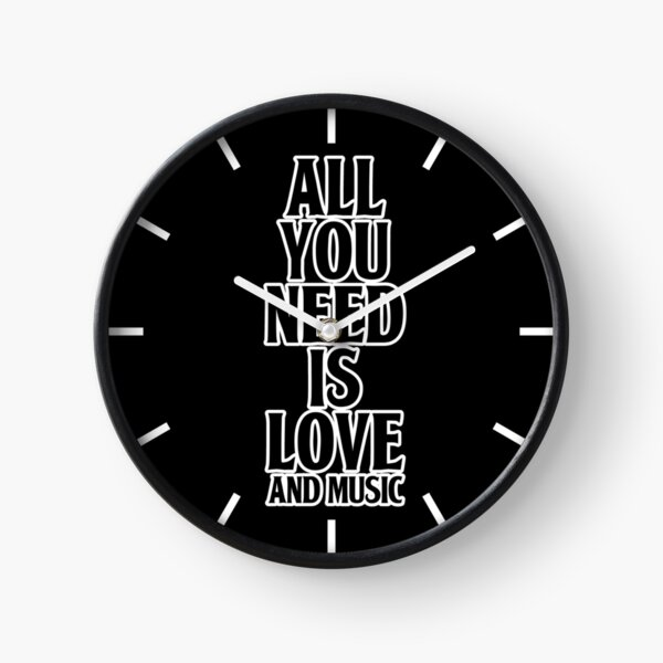 All You Need Is Love And Music Clock