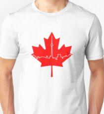 Maple Leaf Skyline - Canada T-Shirt