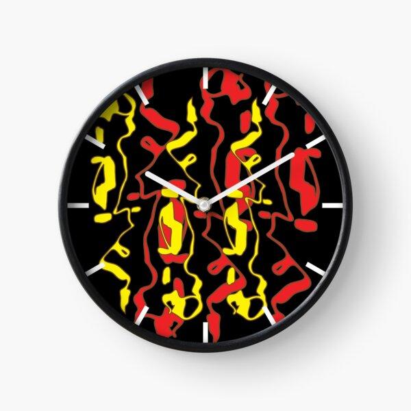 Frizzle Sticks but on black Clock