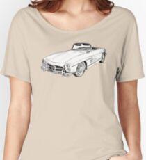 Mercedes Benz 300 SL Convertible Illustration Women's Relaxed Fit T-Shirt