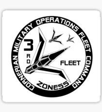 Cornerian 3rd Fleet Sticker