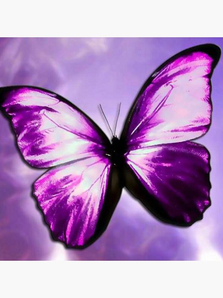 Purple Butterfly by LizzieDzigns