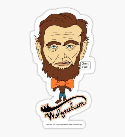 Wolfraham Lincoln Sticker