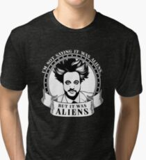 IT WAS ALIENS GIORGIO A TSOUKALOS Tri-blend T-Shirt