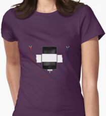 that syncing feeling.. Womens Fitted T-Shirt