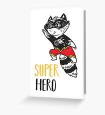 Super Raccoon Greeting Card
