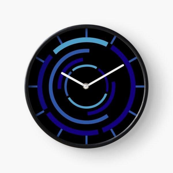 Circles Blue Clock