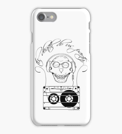 Til Death Do Us Party - single colour iPhone Case/Skin