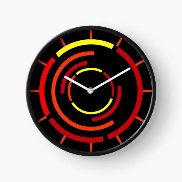 Circles Warm Clock